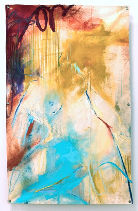 (SOLD) I Am Second - mixed media on canvas - 45x28 inches - 2012