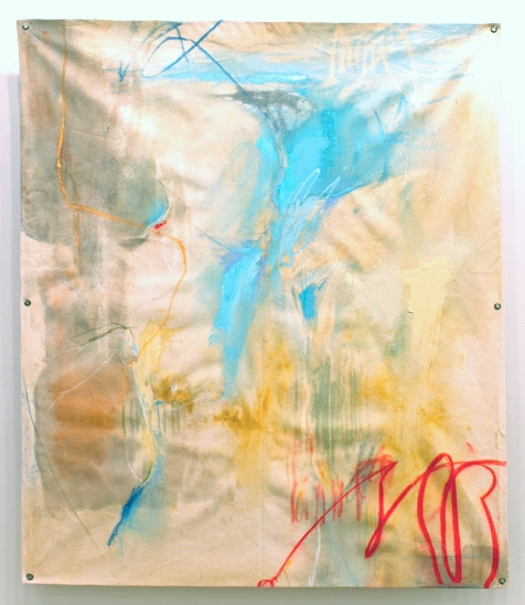 (SOLD) Walk and Not Be Faint - mixed media on canvas - 45x38 inches - 2012