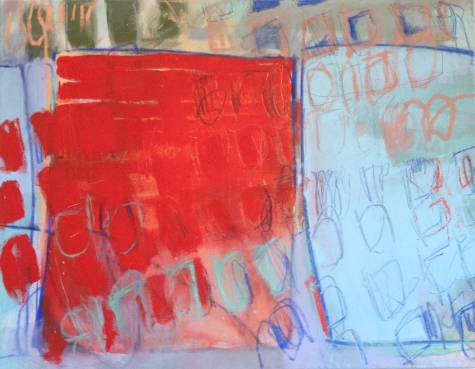 (SOLD) As Idols Empty - mixed media on canvas - 28x33 inches - 2013
