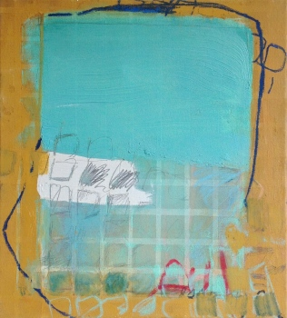 Under Covers - mixed media on canvas - 20x18 inches - 2013