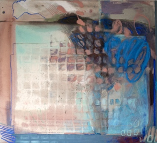 Vulnerable - mixed media on canvas - 33x36 inches - 2013