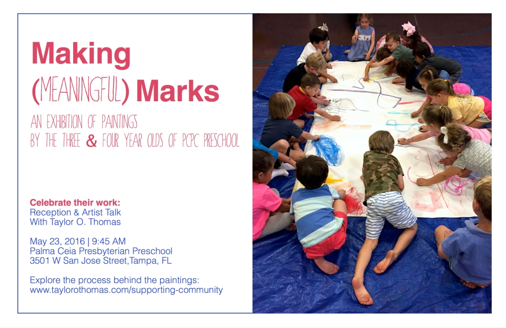 Making Meaningful Marks- exhibition card final front