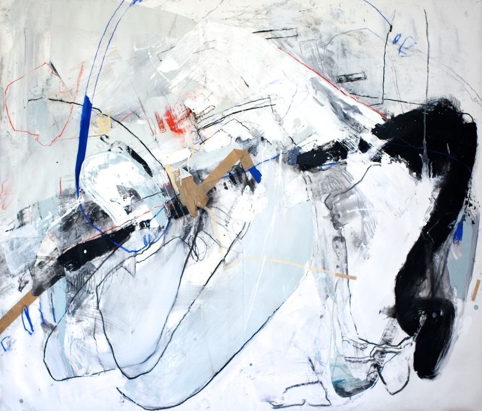 Suffering Stand - mixed media on paper - 72x84 inches - 2015