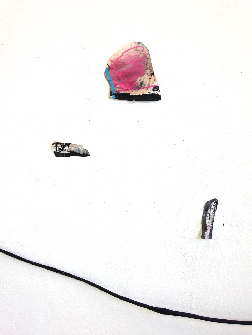 Landscapes - electrical cord and mixed media on papers - dimensions variable - 2014 (detail)