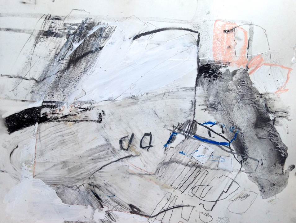 Snow Shield - mixed media on paper - 18x24 inches - 2014