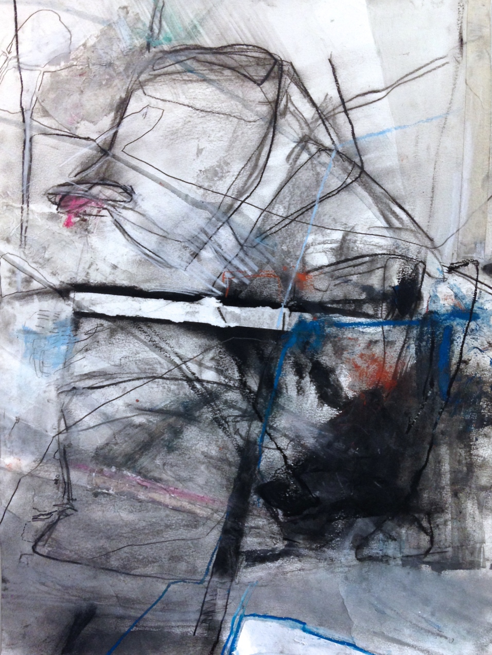 Twine and Trinity, III - mixed media on paper - 24x18 inches - 2014