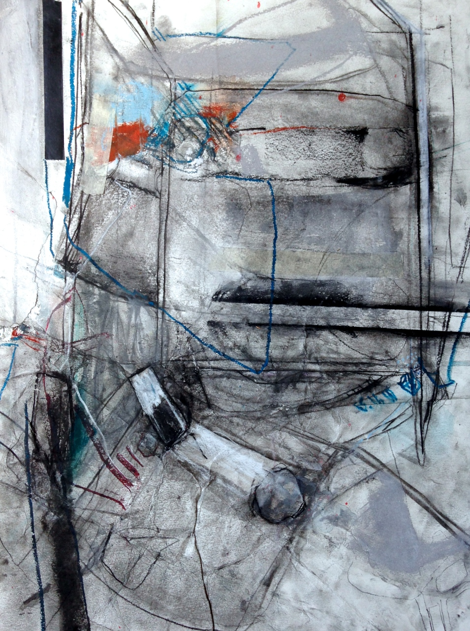 Twine and Trinity, I - mixed media on paper - 24x18 inches - 2014