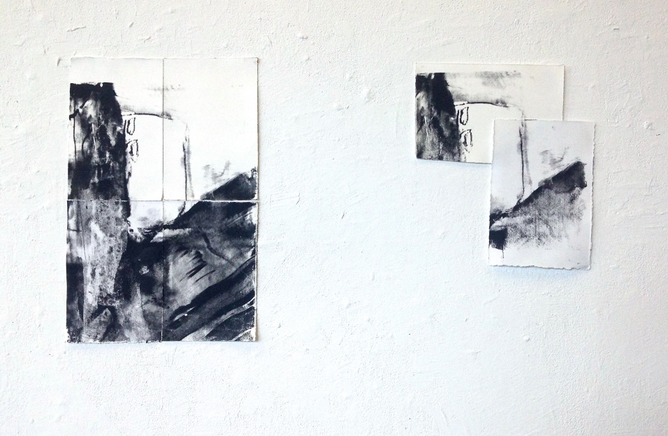 Piece Me, I & II - screen print on papers - dimensions variable - 2015