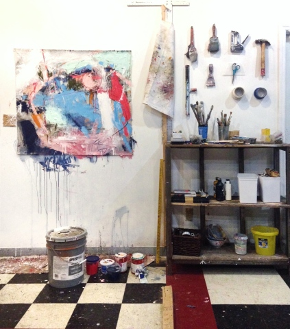 """Studio Shot - process for """"A Stain Remains"""" - 2015"""