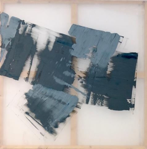 Untitled I - acrylic paint on fabric - 36 x 36 inches - 2017
