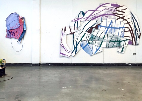 Suspended Gestures (Lopsided and A Fractured Assembly), installation view - Tampa, FL - 2017